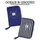 OCEAN & GROUND(オーシャン アンド グラウンド)母子手帳ケース BLUE BLUE(大容量 ポケット ファスナー かわいい)