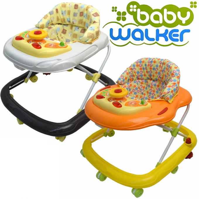 オリジナル ベビーウォーカー 歩行器 ストッパー付き (ベビー 赤ちゃん セーフティーグッズ 歩行器 送料無料)