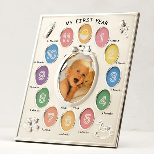 ラドンナ マイファーストイヤーフォトフレーム MB21-130 (フォトフレーム 写真立て 赤ちゃん ベビー 出産祝い ギフト プレゼント お祝い 送料無料)