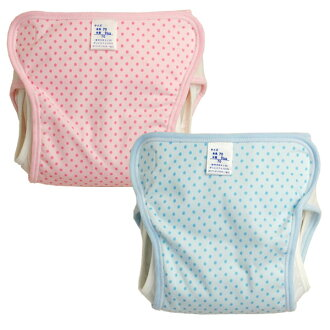 Baby diaper cover two built-in dot (baby / baby / kids / diapers / diaper cover / diaper covers and cloth diaper cover / polka / made in Japan / 70 / 80 / 90)