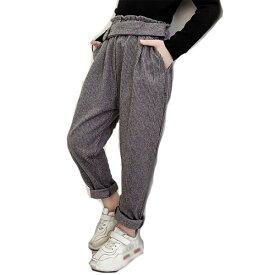 韓国子供服 女の子 ボトムス イギリス風 スーツパンツ カジュアルパンツ ゆったり チェック柄 春 秋 冬 長ズボン 2色選べる 子ども服 ズボン 110cm 120cm 130cm 140cm 150cm 160cm
