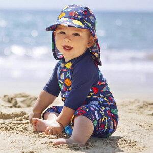 水着 ベビー 男の子 オールインワン 子供用水着 ロンパース 水泳帽付き 魚柄 五分袖 可愛い 子供 ジュニア みずぎ 温泉 スイムウェア 速乾 紫外線対策 日焼け止め 海 プール 男児用 75cm 80cm 90c