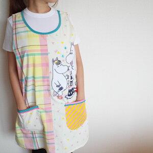 エプロン 保育士 キャラクターエプロン ムーミン 2020秋冬 新作 フリーサイズ 送料無料