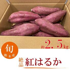 紅はるか さつま芋 約2.5キロ入 期間限定 数量限定 産地直送 甘い 人気商品 焼き芋 熊本産 【送料無料】