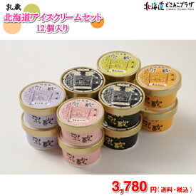 [メーカーより直送]乳蔵 北海道アイスクリームセット 12ヶ入送料無料 送料込 ギフト
