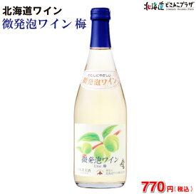 「微発泡ワイン梅 500ml」北海道 セミスパークリングワイン おたる 酒 やや甘口
