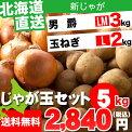 【プライベートセールス開催】【送料無料】北海道産じゃが玉Aセット(じゃがいも&玉ねぎ)10kg【いも/イモ/薯/じゃがいも/ジャガイモ/男爵薯/北あかり/玉ねぎ】