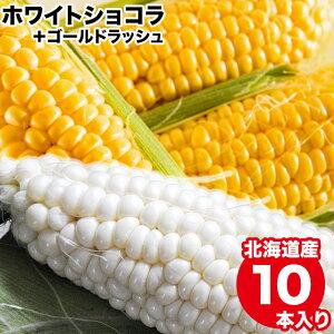 2021年ご予約承り中 9月出荷開始とうもろこし 北海道 送料無料 北海道産 ホワイトショコラ・ゴールドラッシュ 食べ比べ 各5本【とうもろこし 食べくらべ 2種類 混合 セット 詰め合わせ 産地