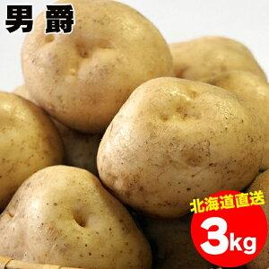 今季出荷開始中!越冬じゃがいも 送料無料 北海道産 男爵薯(M-2L混合) 1箱3キロ入り【3kg 3kg 3キロ 男爵芋 だんしゃく 男爵 いも イモ 薯 ジャガイモ 北海道 野菜 秋野菜 産地直送 男爵いも 男爵