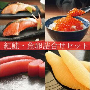 紅鮭・魚卵詰合せセット| 紅鮭 鮭 シャケ さけ 切身 切り身 たらこ 魚 魚卵 海鮮 海の幸 おうちごはん ギフト 贈り物 プレゼント お中元