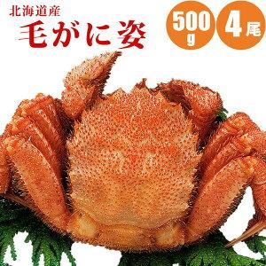 毛ガニ 500g × 4尾 北海道 カニ ボイル冷凍 毛蟹 お取り寄せ カニ味噌 浜茹で 蟹通販 カニ通販