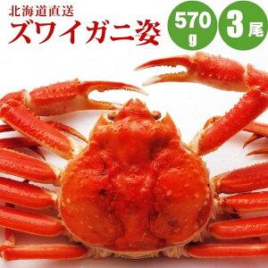 【かに カニ 蟹】 ズワイガニ姿570g×3尾 送料無料 すっきりした甘みズワイガニ姿 カニの中でも人気のズワイガニ姿 カニ お取り寄せ 通販 お中元 御中元