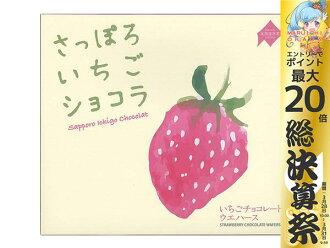 札幌草莓巧克力24个装北海道限定土特产土特产给的礼物点心生日祝贺礼物问候礼物札幌