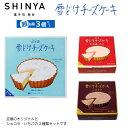 送料込 ふらの雪どけチーズケーキ 1ホール×3種類(ノーマル・ショコラ・北海道いちご) セット  【SHINYA】【富…