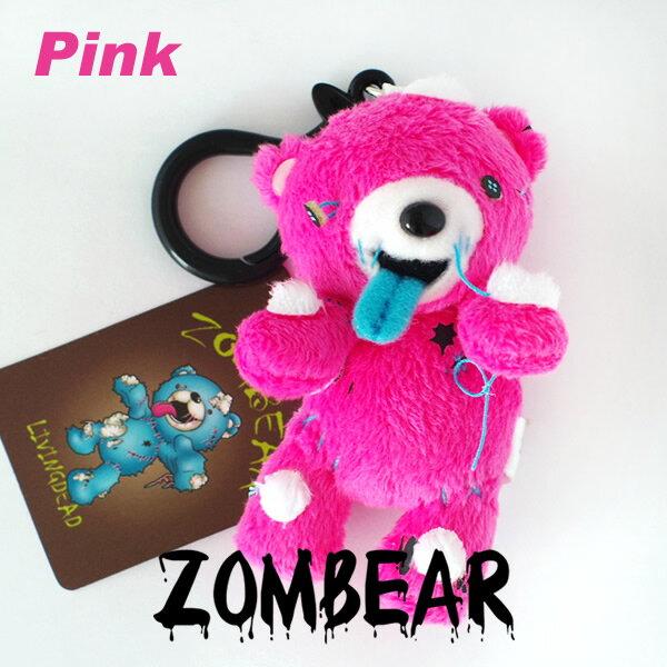 ゾンベアー ぬいぐるみ マスコットキーホルダー【ピンク】 1個(約9cm)