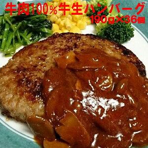テレビで話題の牛肉100%牛生ハンバーグ190g×36個入/ハンバーグ/牛肉/冷凍A/