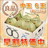 共撰夕張メロン良品中玉6玉(1ケース)(6月〜8月上旬お届け)