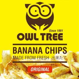 【送料無料】OWLTREE バナナチップス 無添加 美容 健康 非常食 4袋分(60g×4袋) 【メール便】