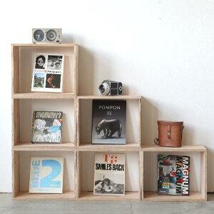 キューブボックス 【CUBE BOX】Mサイズ(単品)・北海道産木材・カラーボックス・テレビボード・ディスプレイラック・本棚・棚付・隙間収納・壁面収納・収納棚・組み合わせ収納ボックス・