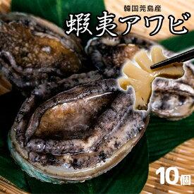 高品質 韓国ワンド産 蝦夷アワビ 10個 [あわび/鮑]