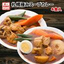 カレー 送料無料 2種から選べる 札幌極みスープカレー 4食 豚角煮 チキン 北海道 レトルト