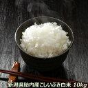 令和元年産 新米 新潟産こしいぶき 10kg 白米 【精米済】 【送料込み】 食味Aランク (ほぼ 無農薬) 一等級