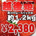 ご家庭用のわけあり大粒イチゴ 約300gのパックが4パックの1.2kg!!