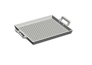 アルミ鋳物 角型グリルプレート ガス火プレート グリル ステーキ 板 アルミ 鋳造 キャスト 業務用 プロ