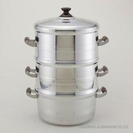 DX長生セイロセット二重 33cm ガス火 竹スノコ付せいろ セイロ 蒸籠 蒸し器 スチーマー セット 鍋 アルミ アルミキャスト 鋳物 鋳造