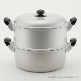 ゆうげ紀行 蒸し器セット 30cm ガス火日本製 蒸し ふかし 赤飯 もち セイロ 蒸籠 蒸し器 アルミ 軽い アルマイト