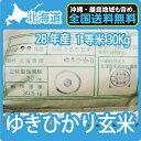 北海道産 ゆきひかり 玄米 30Kg 送料無料 【一等米】 【北海道米】 【平成28年産】