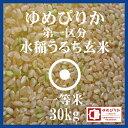 ゆめぴりか 玄米 30kg 送料無料 第一区分 1等米 28年産 北海道米