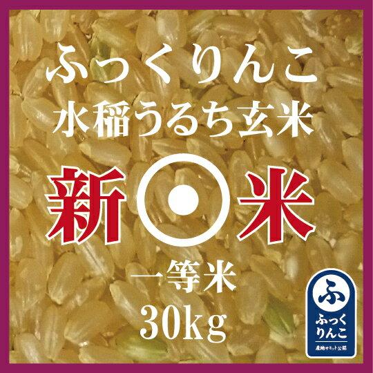 新米 ふっくりんこ 玄米 30Kg 産地サミット品 1等米 30年産 北海道米