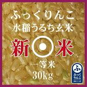 新米ふっくりんこ玄米30Kg産地サミット品1等米30年産北海道米