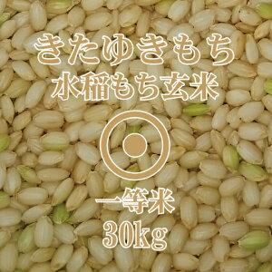 令和2年産 きたゆきもち 玄米 30Kg 一等米 北海道産 もち米 糯 北海道米