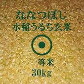 ななつぼし玄米30Kg1等米北海道米30年産食味ランキング特A受賞
