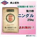 【送料無料】 北海道産小麦粉 ニングル (25kg)パン用粉 業務用 【横山製粉】
