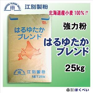北海道産 強力粉 はるゆたかブレンド 25kg 国産 パン用 小麦粉 業務用 (ハルユタカ)  【江別製粉】