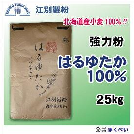 はるゆたか100 25kg 北海道産 強力粉 はるゆたか ストレート パン用 小麦粉 国産 業務用 江別製粉 【RCP】