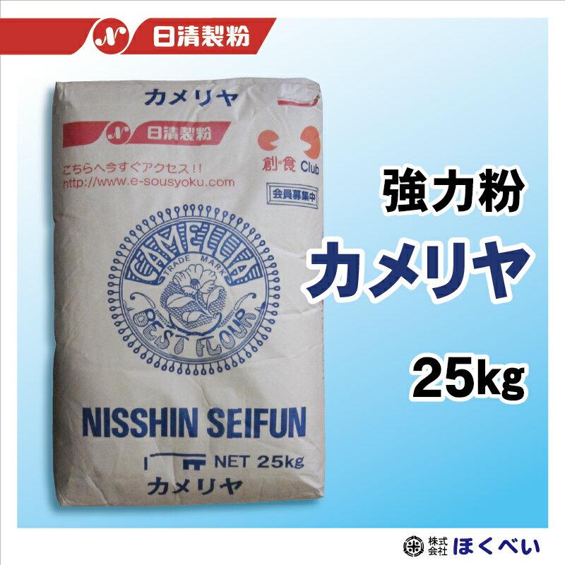 カメリヤ 25kg パン用強力粉 業務用 小麦粉 【日清製粉】