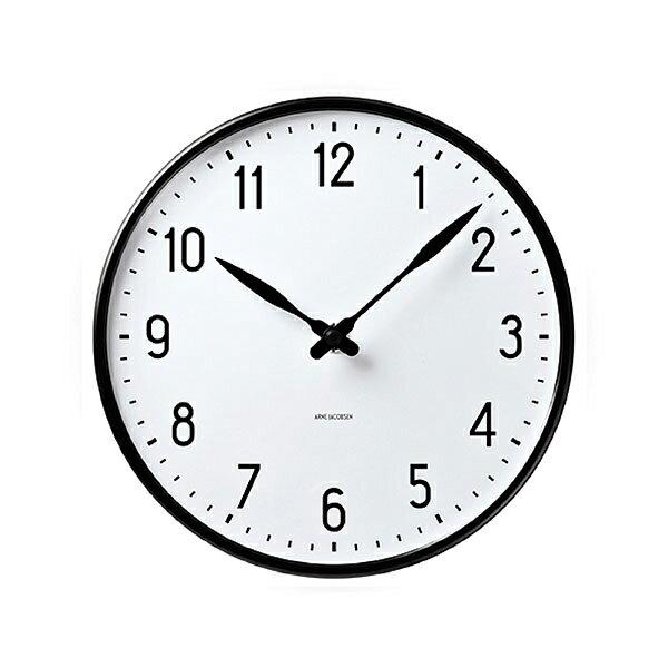 【10% OFF クーポン!】Jacobsen Station Clockローゼンダール アルネ・ヤコブセン ステーションクロック 29cm