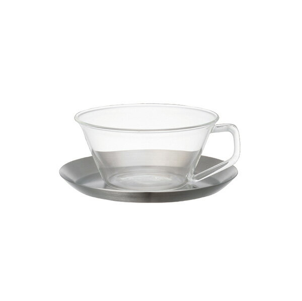 KINTO CAST TEA CUP & SAUCER STAINLESSKINTO CAST ステンレス ティーカップ&ソーサー [23086]