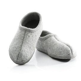 Ulle ウーレ Womens レディースOriginal High Wool Room Shoes Light greyオリジナル かかと付き ウール ルームシューズ ライトグレー