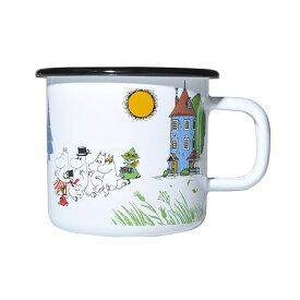 Moomin ムーミン Muurla ムールラ ホーローマグ ( Moominvalley / 370ml )【北欧雑貨】