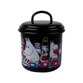 Moomin ムーミン Muurla ムールラ ジャー ( ムーミンジャム柄 / ブラック )【北欧雑貨】
