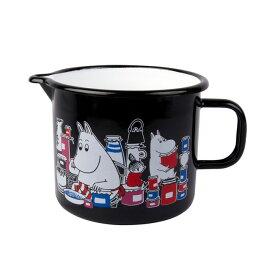 Moomin ムーミン Muurla ムールラ ジャグ ( ムーミンジャム柄 / ブラック )【北欧雑貨】