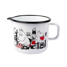Moomin ムーミン Muurla ムールラ ジャグ ( ムーミンジャム柄 / ホワイト )【北欧雑貨】