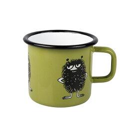 Moomin ムーミン Muurla ムールラ ホーローマグ ( スティンキー / グリーン / 250ml)【北欧雑貨】