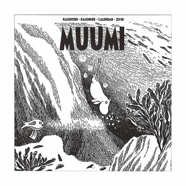 Moomin ムーミン原画 壁掛けカレンダーミニ 2018年【北欧雑貨】