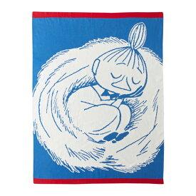 【送料無料】Moomin ムーミン Finlayson フィンレイソン ブランケット ( リトルミイスリーピング / 80×100cm )【北欧雑貨】